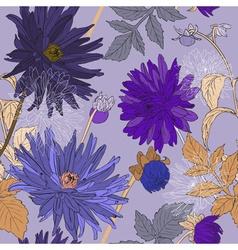 Romantic seamless flower pattern vector