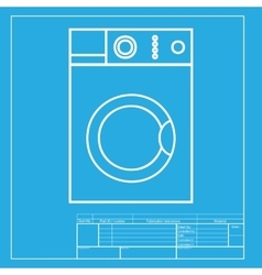 Washing machine sign white section of icon on vector