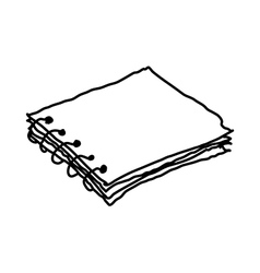 A sketchbook is placed vector