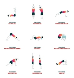 Aerobic and workout icons vector image vector image