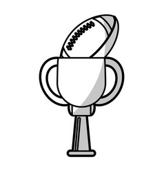 American football winner cup prize - shadow vector
