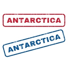 Antarctica rubber stamps vector
