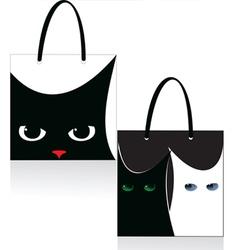 Bag cat vector