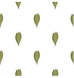 Bay laurel leaves pattern flat vector