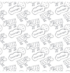 Black and white seamless pattern with images cute vector
