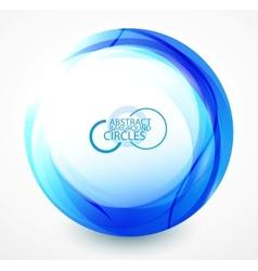 blue wave abstract circle vector image