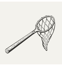 butterfly net with handle vector image