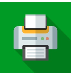 Colorful printer icon in modern flat style with vector image vector image