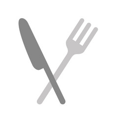 cutlery kitchen isolated icon vector image vector image