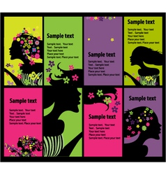 fashion cards vector image vector image