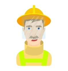 Fisher icon cartoon style vector image