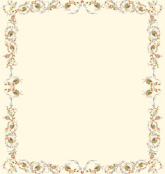 floral parchment vector image