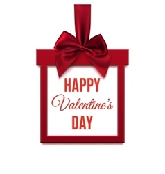 Happy valentines day red square banner in form vector