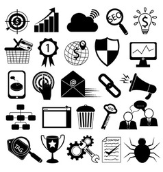 Internet Marketing Icons SEO Tools vector image vector image