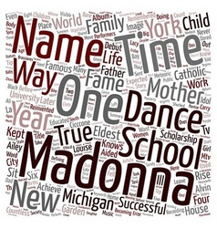 Madonna the idol text background wordcloud concept vector
