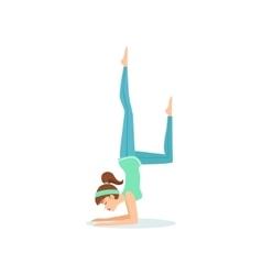 One legged crow eka pada bakasana yoga pose vector