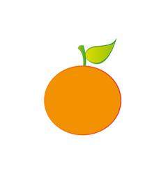 orange fruit icon stock vector image vector image