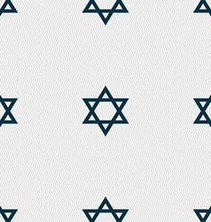 pentagram icon sign Seamless pattern with vector image
