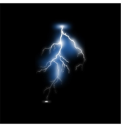 Realistic lightning vector image