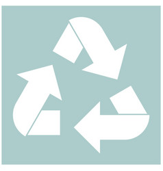 Recycling arrows in a circle the white color icon vector