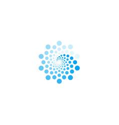 Sea wave blue color logo digital revolution vector