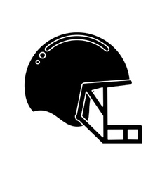 silhouette helmet mask american football equipment vector image