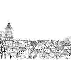 street view cityscape skyline medieval landscape vector image vector image