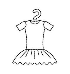 tutu ballet on the hanger costume classic vector image