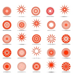 sun and star icons vector image