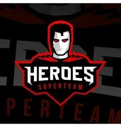 Superhero logo sport style vector image