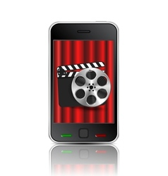 Movie phone vector