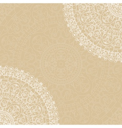 Beige background with napkin vector