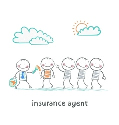Insurance agent repaint in a different color vector