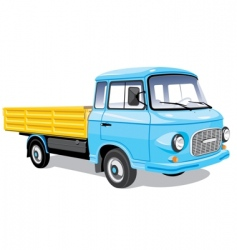 mini cargo truck vector image