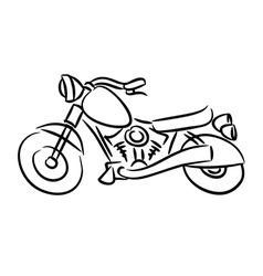 The chopper motorcycle vector