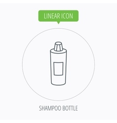 Shampoo bottle icon liquid soap sign vector