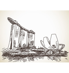 Marina bay sands vector