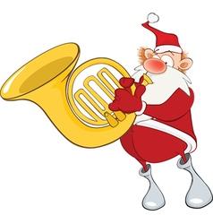 Cute Santa Claus Sousaphone vector image