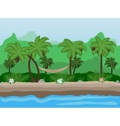 Seamless cartoon nature landscape unending vector
