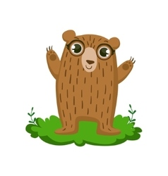 Ber friendly forest animal vector