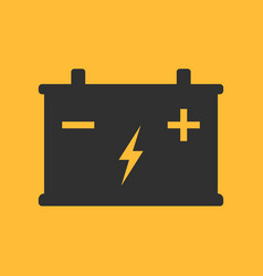 Battery flat icon on background vector