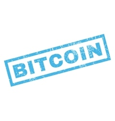 Bitcoin Rubber Stamp vector image vector image