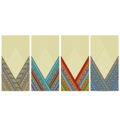 Bright ethnic vertical frames set vector image vector image