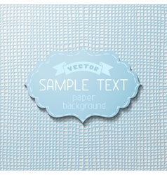Checked paper background vector image vector image