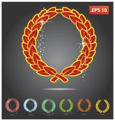 colored heraldry symbols vector image