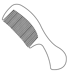 comb outline vector image vector image