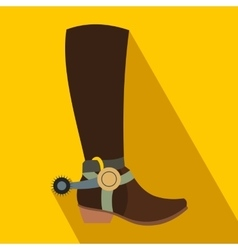 Cowboy boot flat icon vector