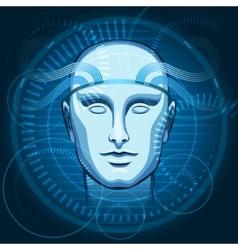 Cyber Head vector image