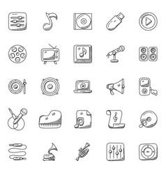 Doodles set of music vector