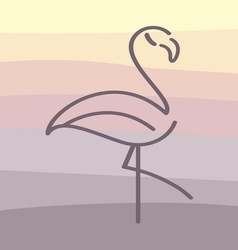 Flamingo cartoon vector image